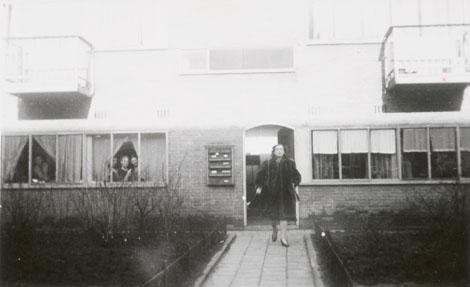 Sonia Gaskell outside the Zomerdijkstraat