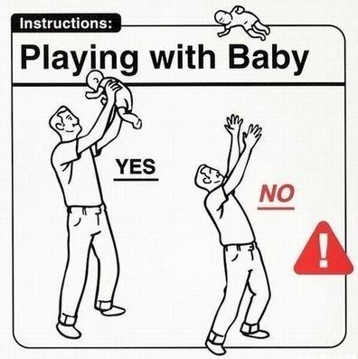 Just kidding. We haven't done this. (Yet.) http://www.antalik.com/baby-instructions/