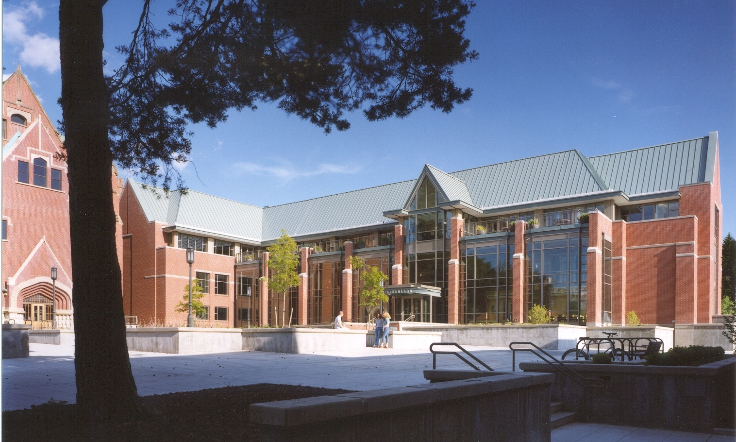 Owner: University of Idaho Location: Moscow, ID   The design of this facility addressed the campus wide need to develop a long term site and building design concept that would unify the Historic Zone of campus. The project re-clad an existing office building to provide a complementary proportion and detail to the historic Administration Building that is sited directly adjacent. This project was the the winner of the 2004 AIA Award of Merit in Architecture.