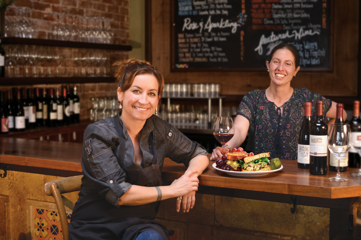 Co-Owner / Chef Kelly Briglio and Co-Owner / Wine Curator Tina Thayer