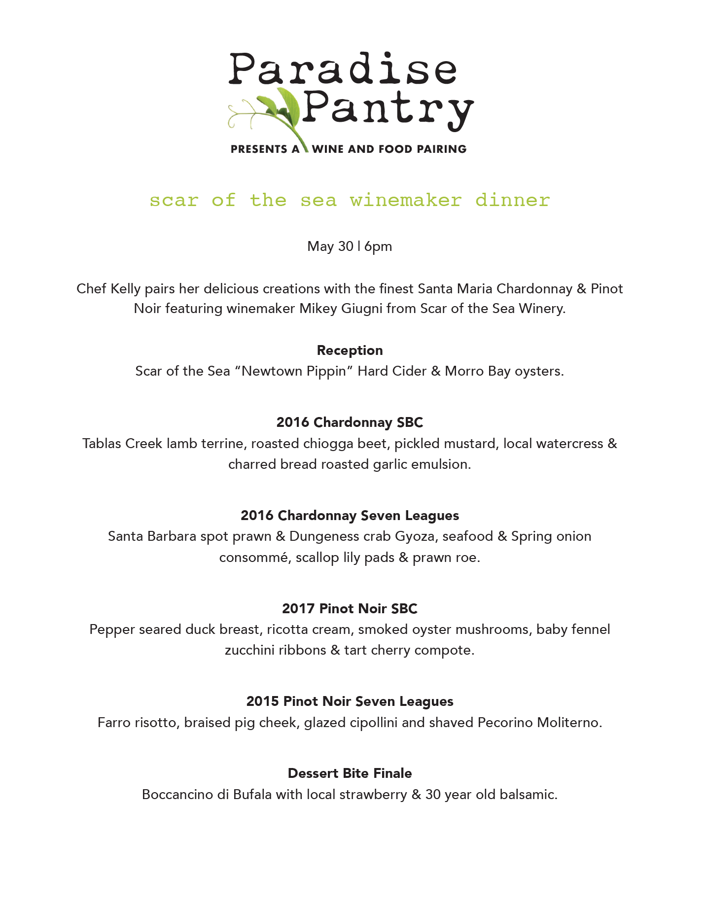 Click to view the menu