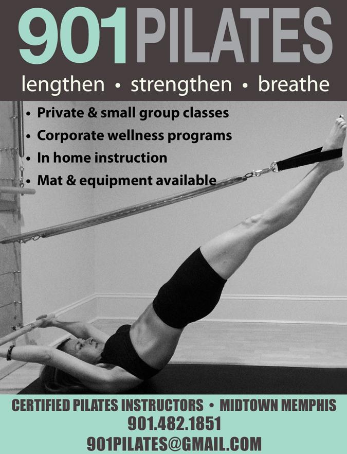 901 Pilates | Logo design & magazine ad