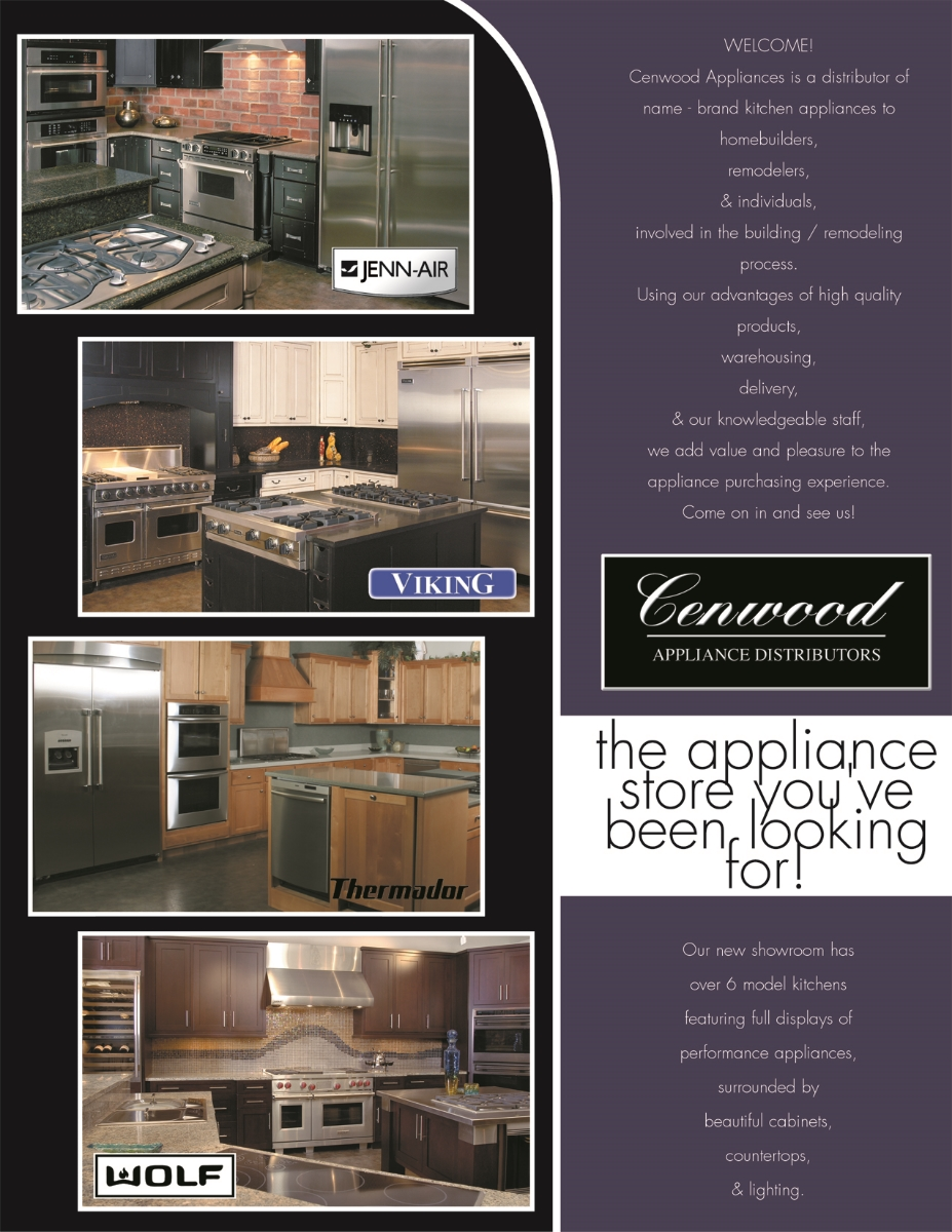 Cenwood Appliances | Inside view of direct mailer