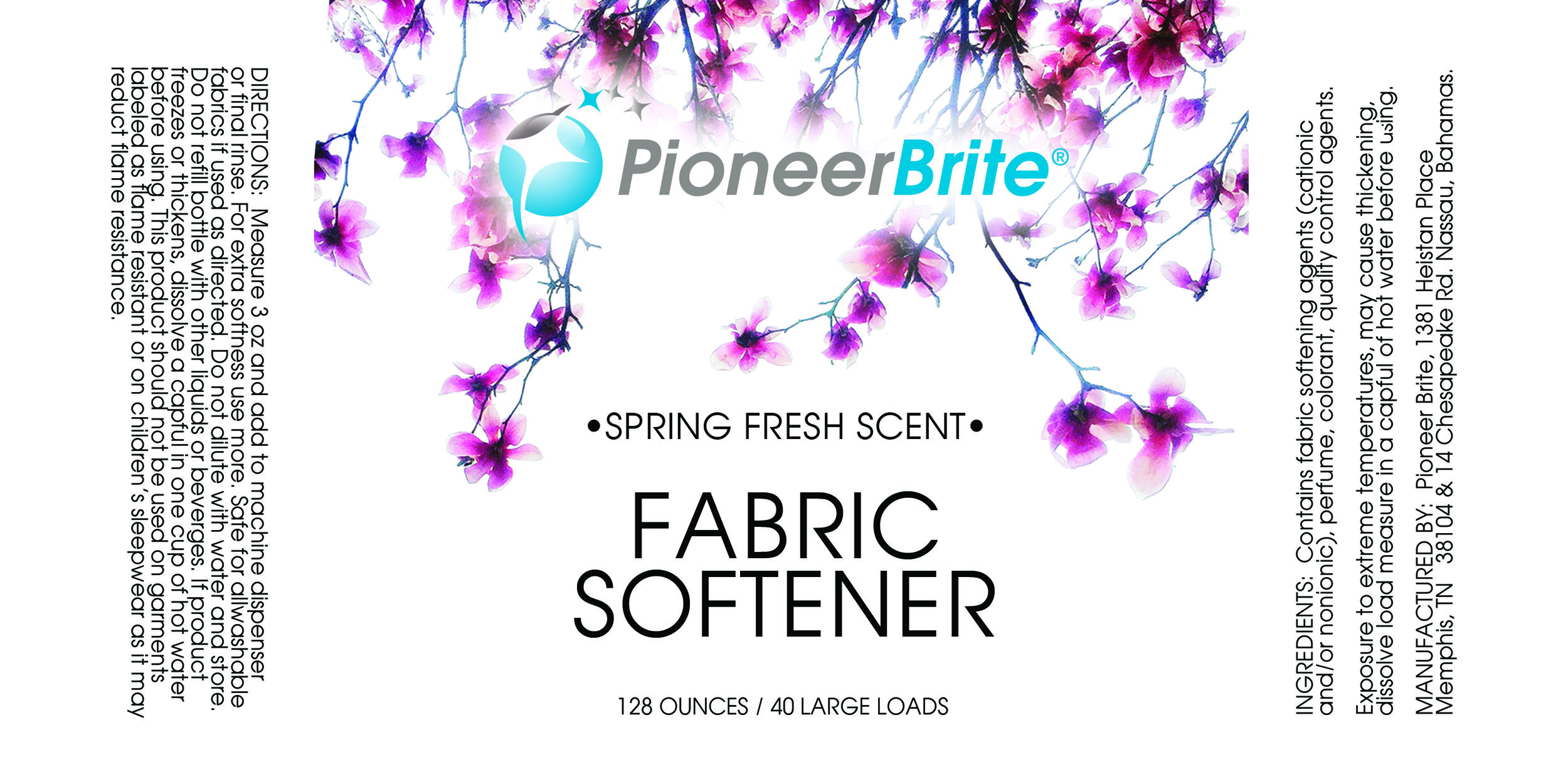 Pioneer Brite | Product label - Original photography