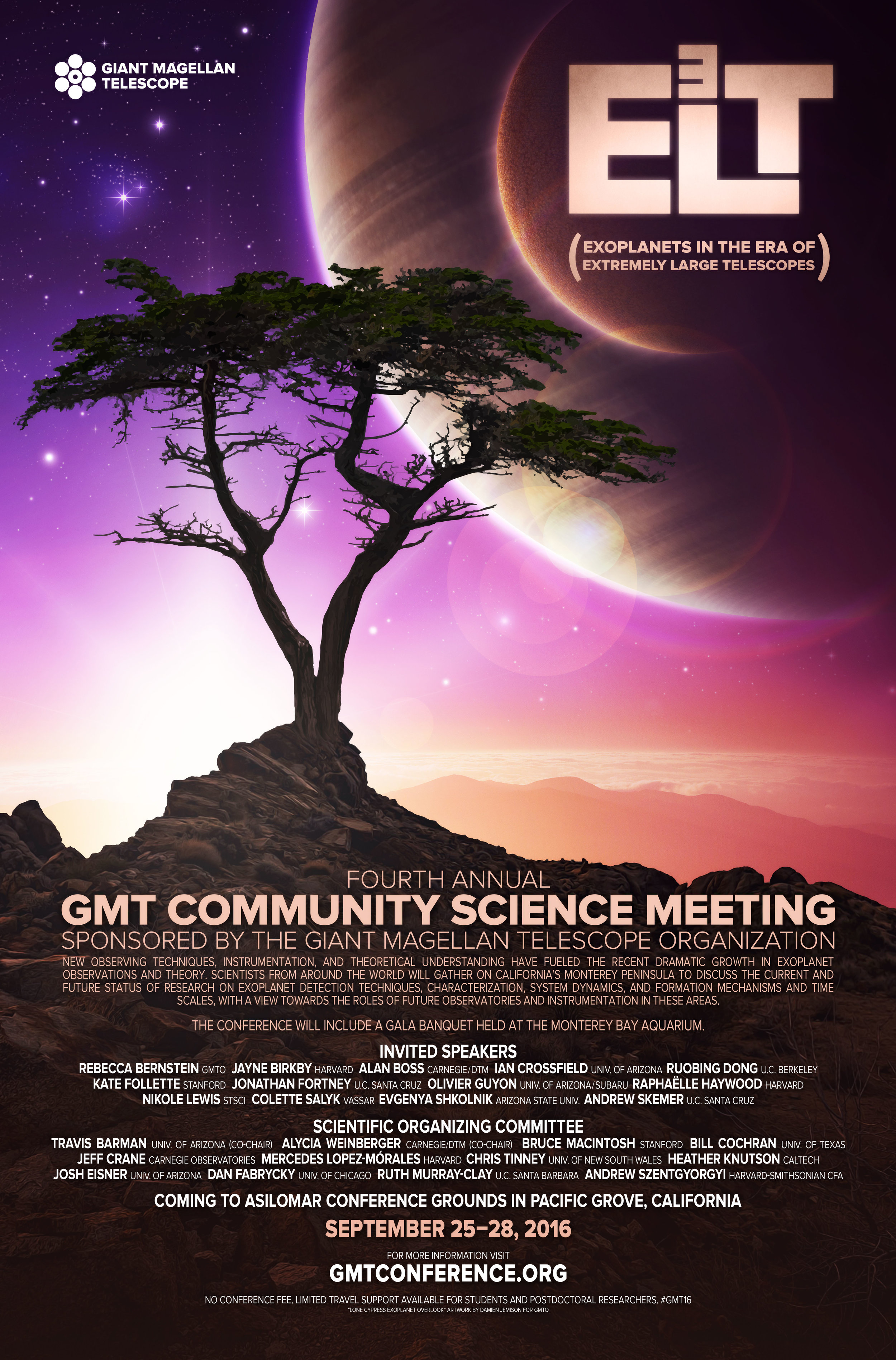 Sixth Annual GMT Community Science Meeting Poster.    Download a JPG Here