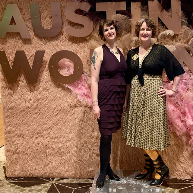 """Owners Valerie Ward and Amelia Raley 🍦🥳 Sweet Ritual was a finalist for """"Business of the Year"""" for @austinwoman! Congrats to all the finalists and winners, and thank you for the incredible awards ceremony and banquet, Austin Women! #womanentrepreneur"""