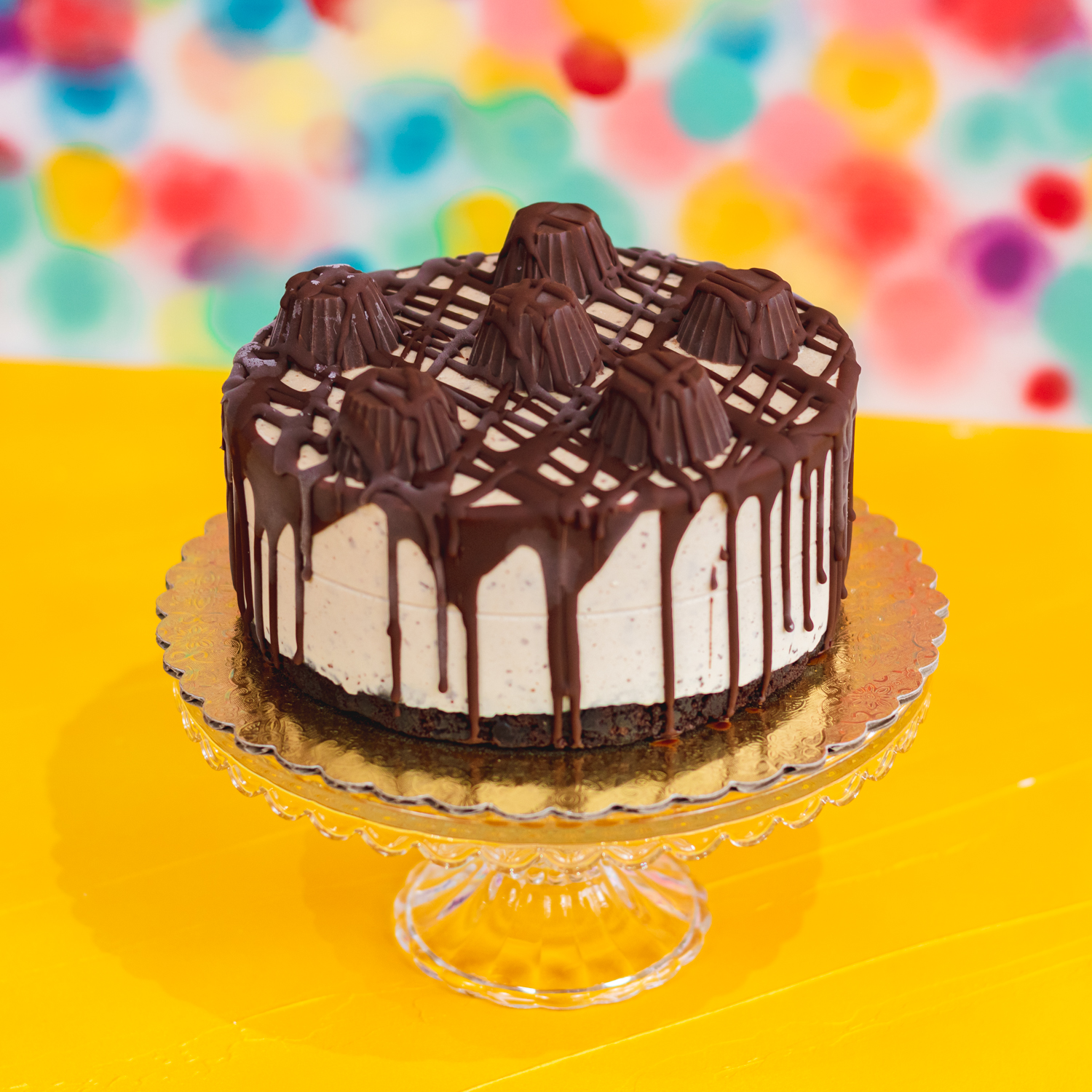Ice Creme Cakes - Ice cream cakes are 8 inches across by 3 inches tall. Each serves 8-10 people and is priced at $40. Cakes are kept in stock and available to pick up from our front retail freezer. No reservations or ordering necessary, just grab and go!