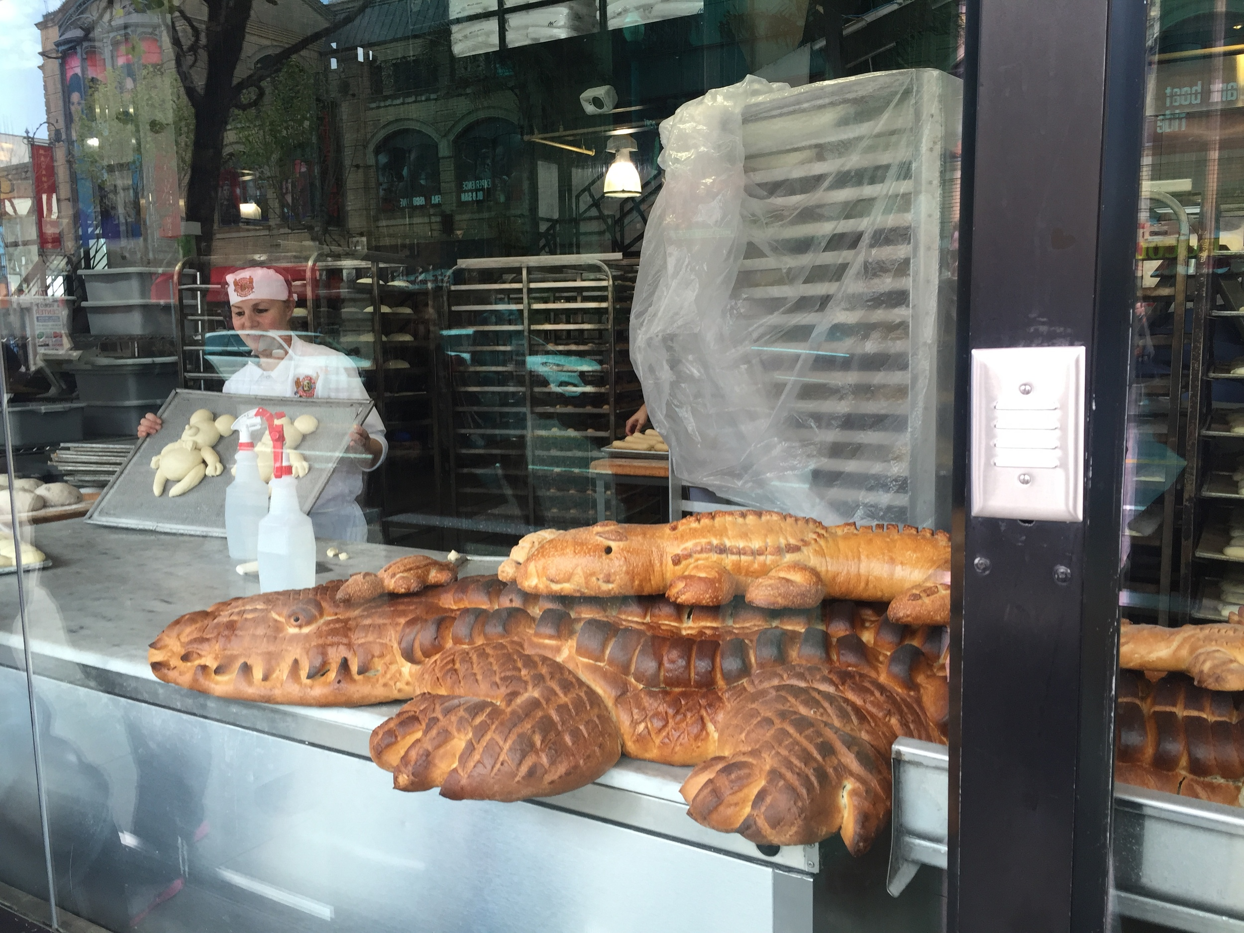 Walked past the #BoudinBakery where they bake animal-shaped French bread. How cool?!