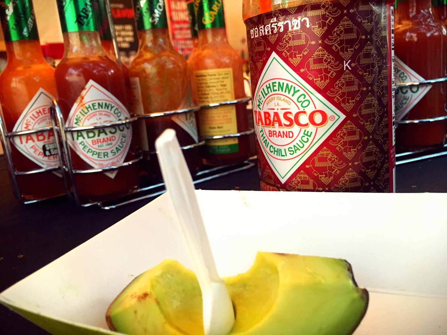 "Tabasco + Avocado = the ""Tavo"" yes please!"