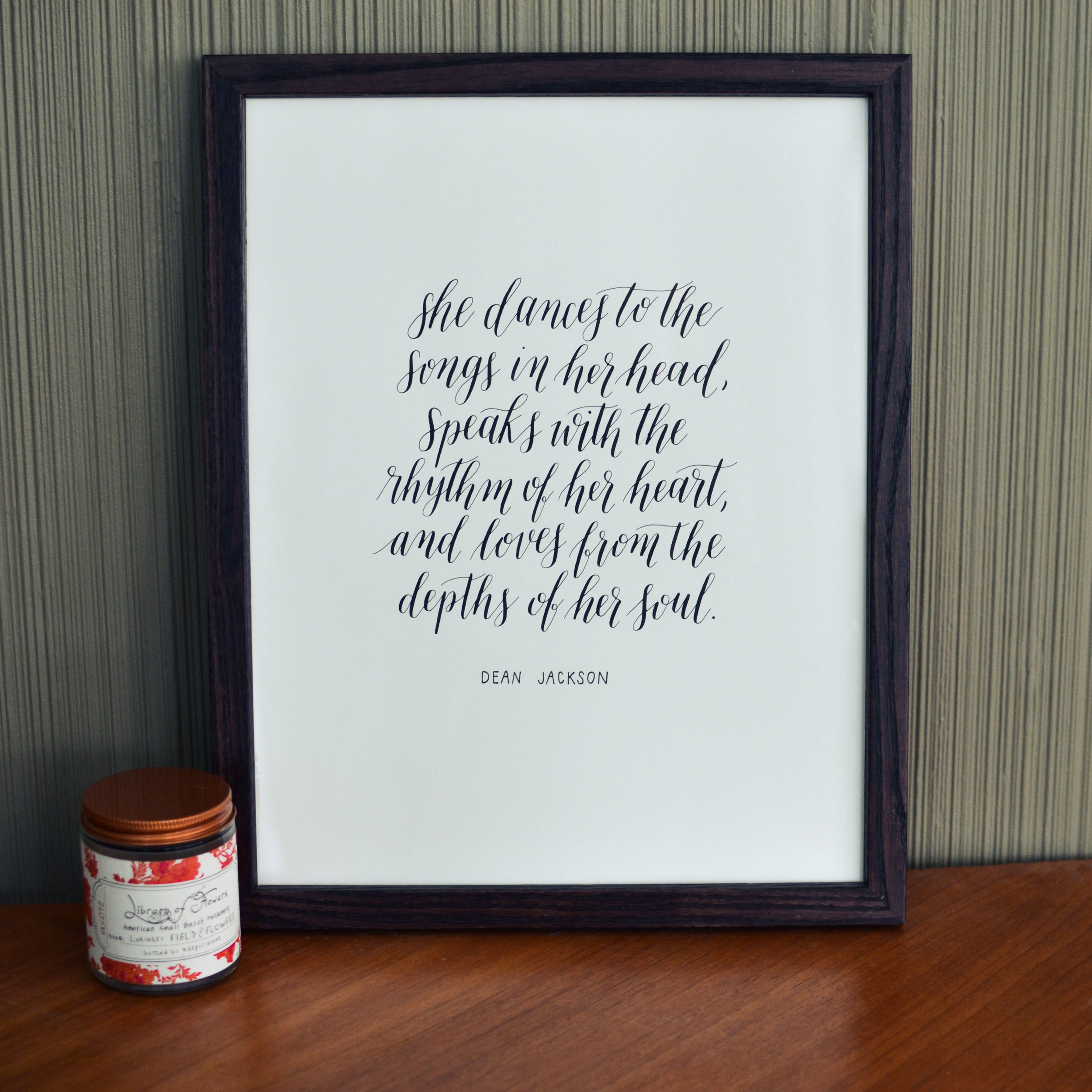 Riley and ko calligraphy prints for home louisville kentucky