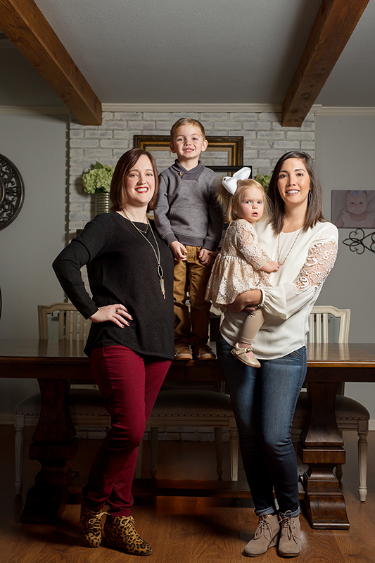 Surrogacy builds relationships that most of us will never understand. Jenna Miller (right) mother of three, developed a serious health risk after carrying her first daughter. When she was ready to grow her family she found Jennifer Nelson (left) who carried Ryan and Faith. Jenna and her family of three drove from Waco to Houston and back many times a week to keep up with Jennifer's pregnancy. The time they shared created a bond that can't be broken.