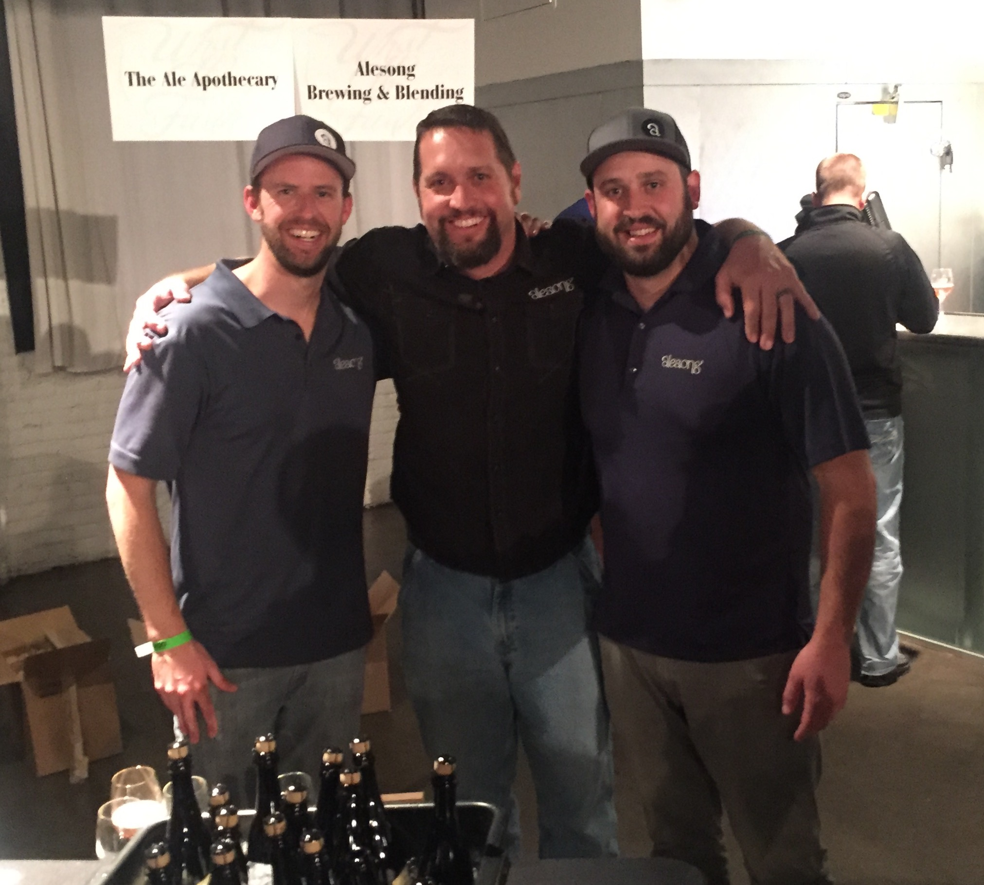 Pouring at What the Funk next to our friends from the Ale Apothecary! Great start to the week!
