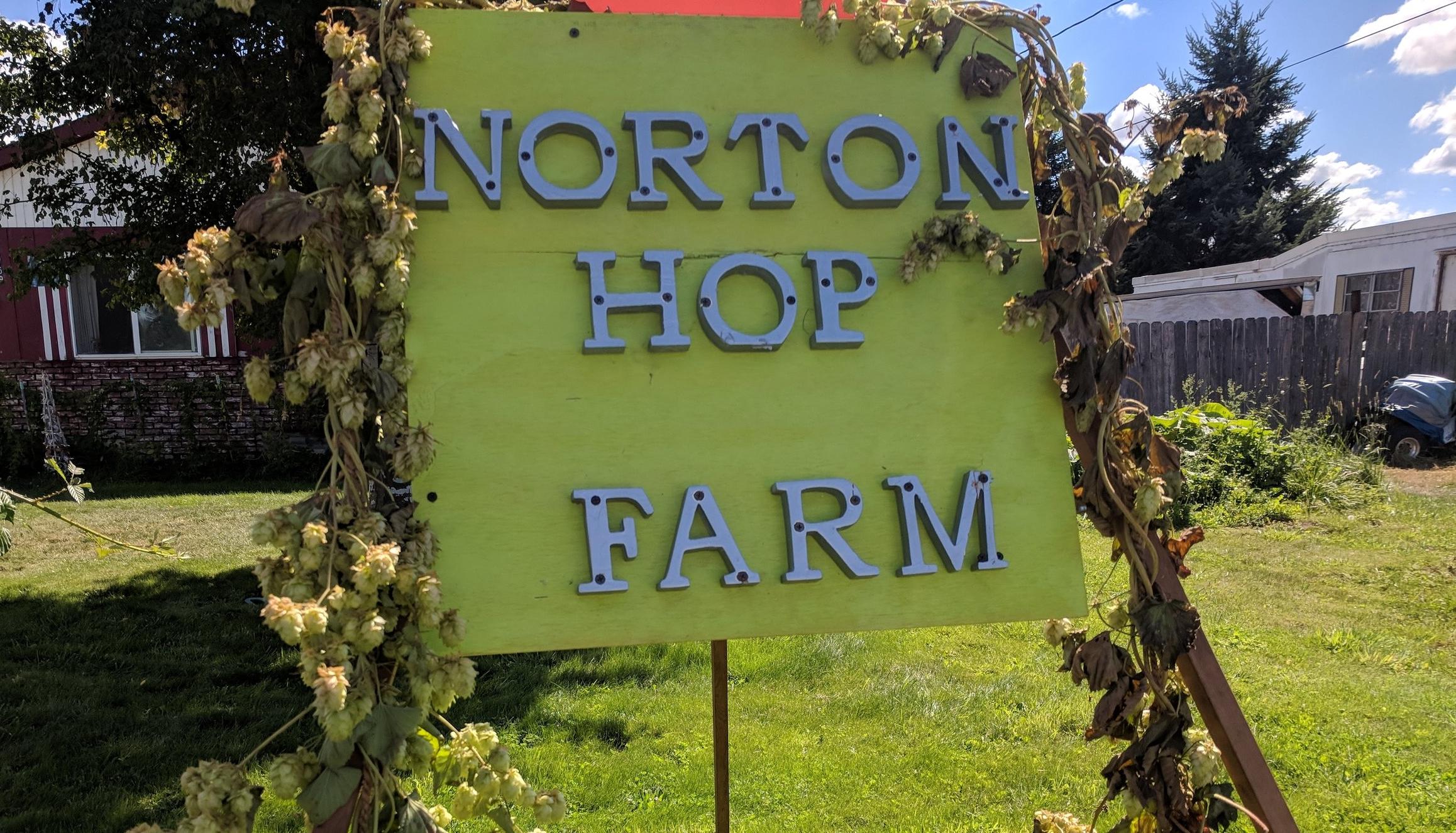 Norton Hop Farm!  Local Eugene hops!