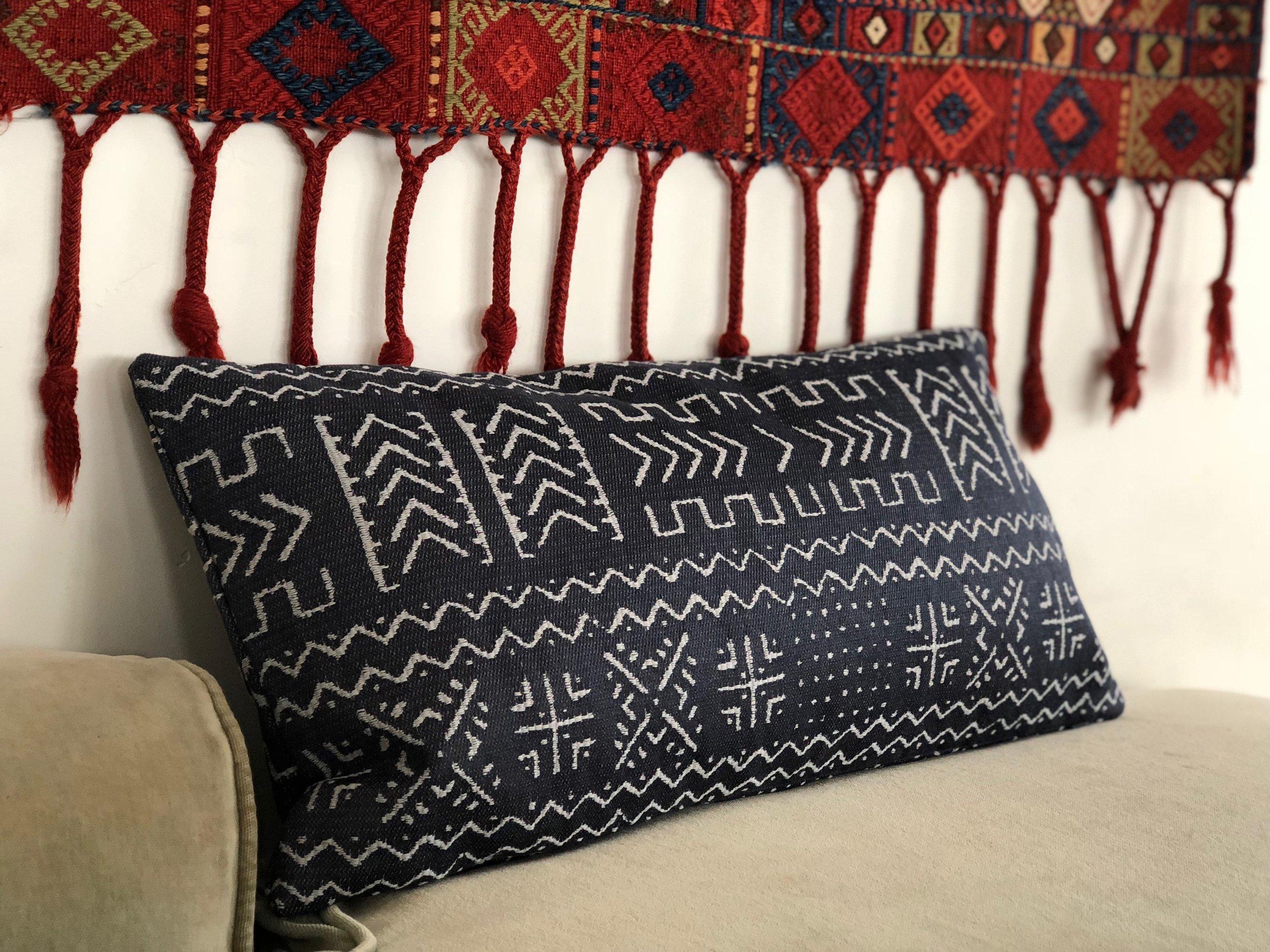 Indigo Arctic Lumbar Pillow -