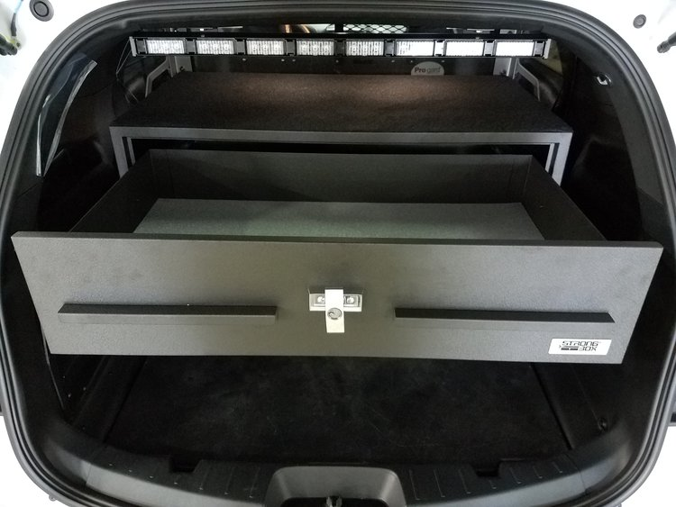 ford explorer rear storage open drawer