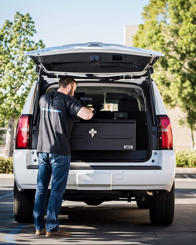 Loading up the box.  This is our large drawer system that fits nicely in the Tahoe along with of vehicle platforms like the 4Runner.  #BuiltToSecure #MadeInAmerica