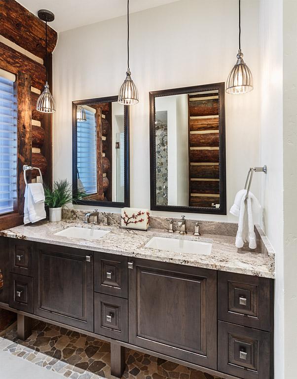 Modern duel sink bathroom