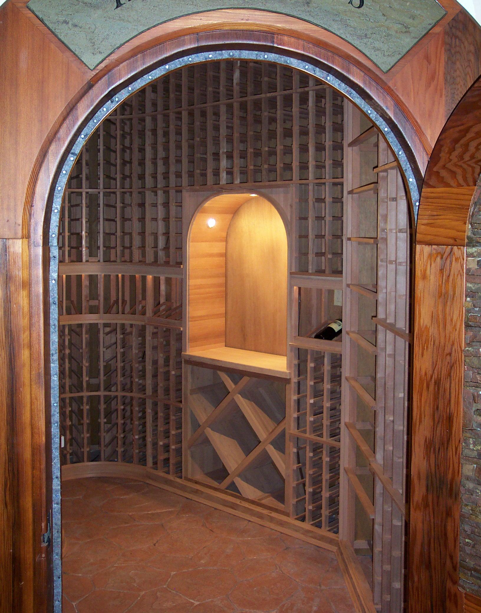 Walk-in custom wine cellar