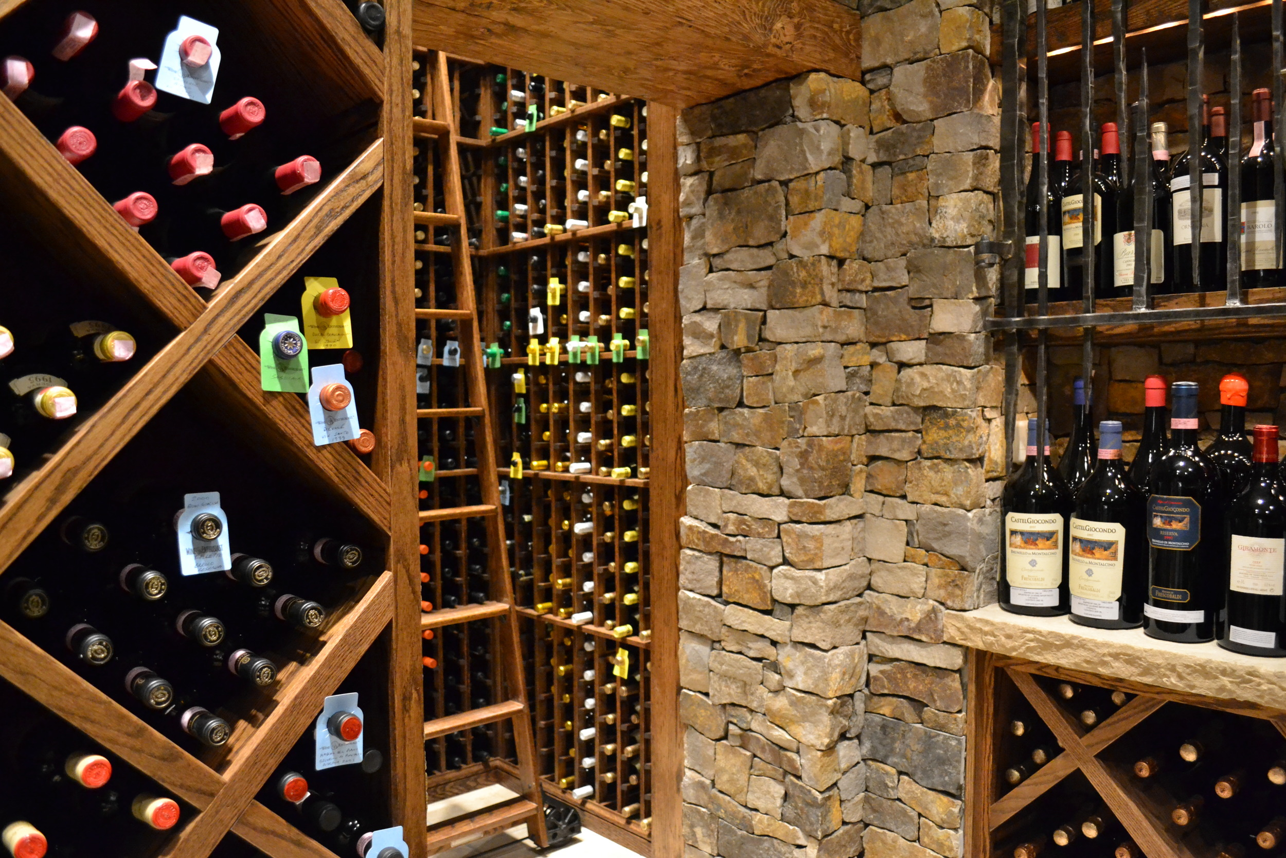 dedicated wine cellar room