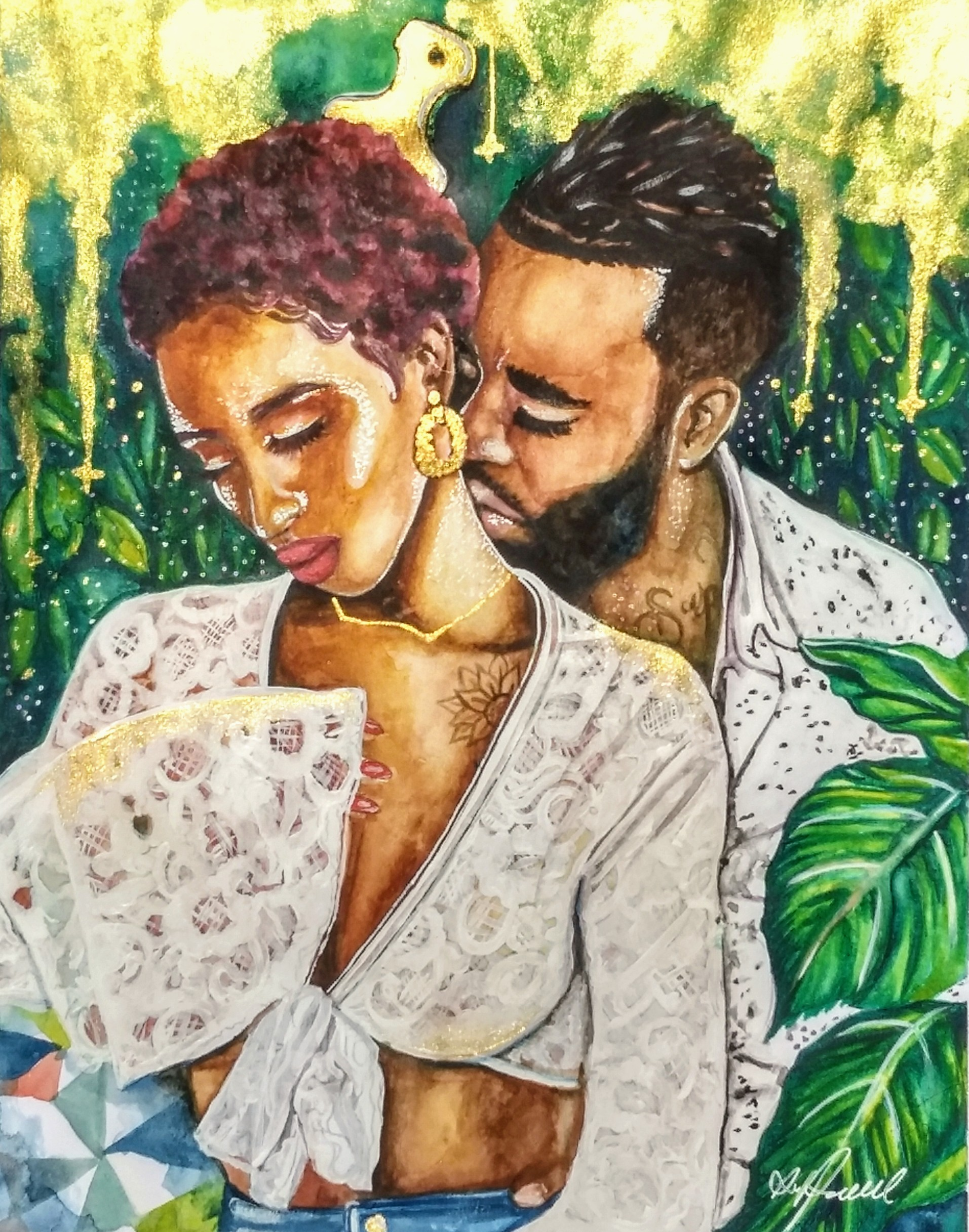 Cherish Her Black Love Art Poetically Illustrated Art by Destiney Powell.jpg