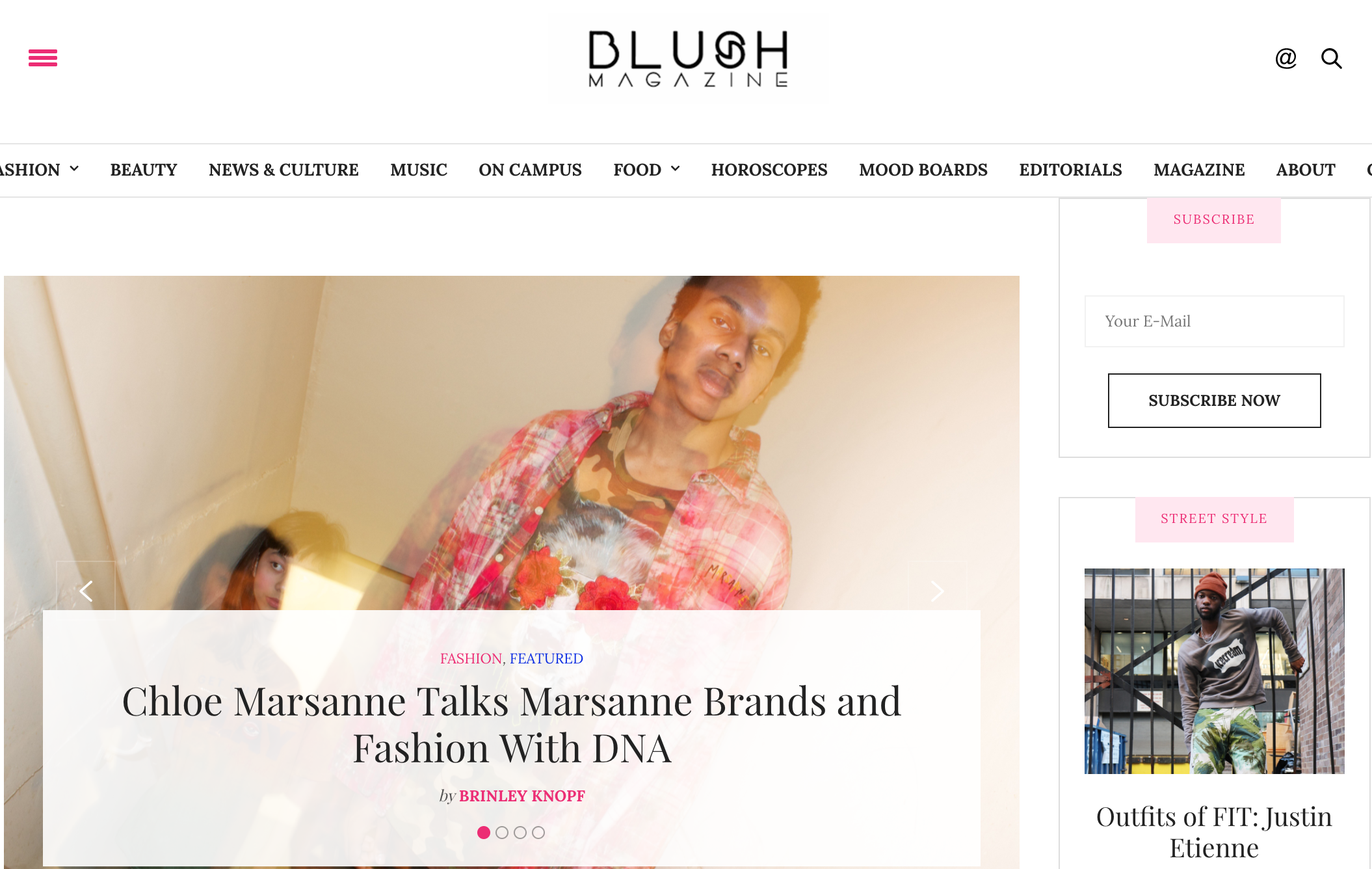 BLUSH MAGAZINE - FEATURES EXCLUSIVE INTERVIEW AND REVIEW WITH MARSANNE BRANDS