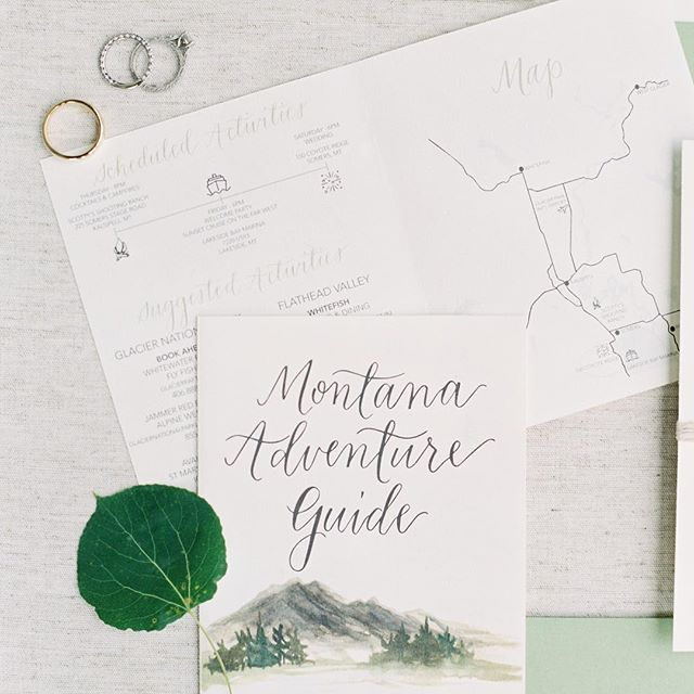 It was so fun creating this guide for out of town wedding guests 🗺  #moderncalligraphy #adventureguide #annapoliscalligrapher #destinationwedding