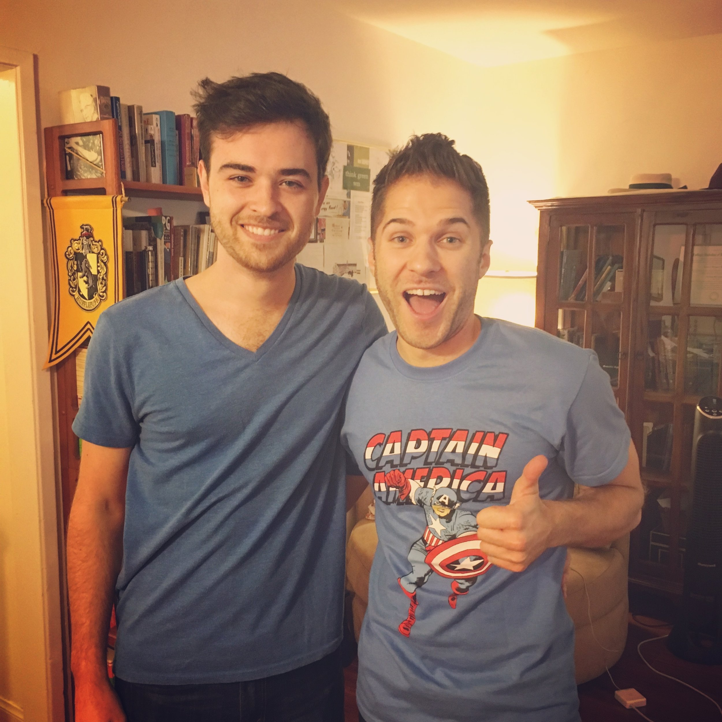 Andrew and Charlie unintentionally showed up to recording once wearing very similar outfits. They are very in sync.