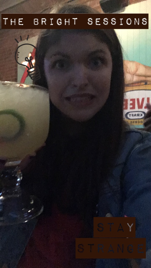 I got a custom snapchat filter for our S3 wrap party and also a margarita the size of my head.