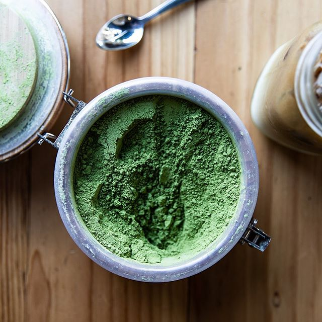 It's a matcha Monday mood 🍵  We use @tenzotea and can make it hot or iced and to your preference- traditional style with water, or latte style with your choice of housemade almond, cashew, oat 'milk'. #duidough 📸 @alexandracooperphotography