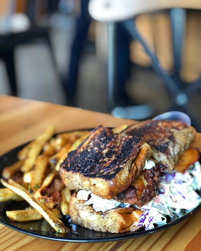 F Yeah Friday! Inspired by a customer request.. This is Frankenstein! A French Toast Fried Chicken Sando(ough). Who else is f-f-feeling this combo?? #duidough
