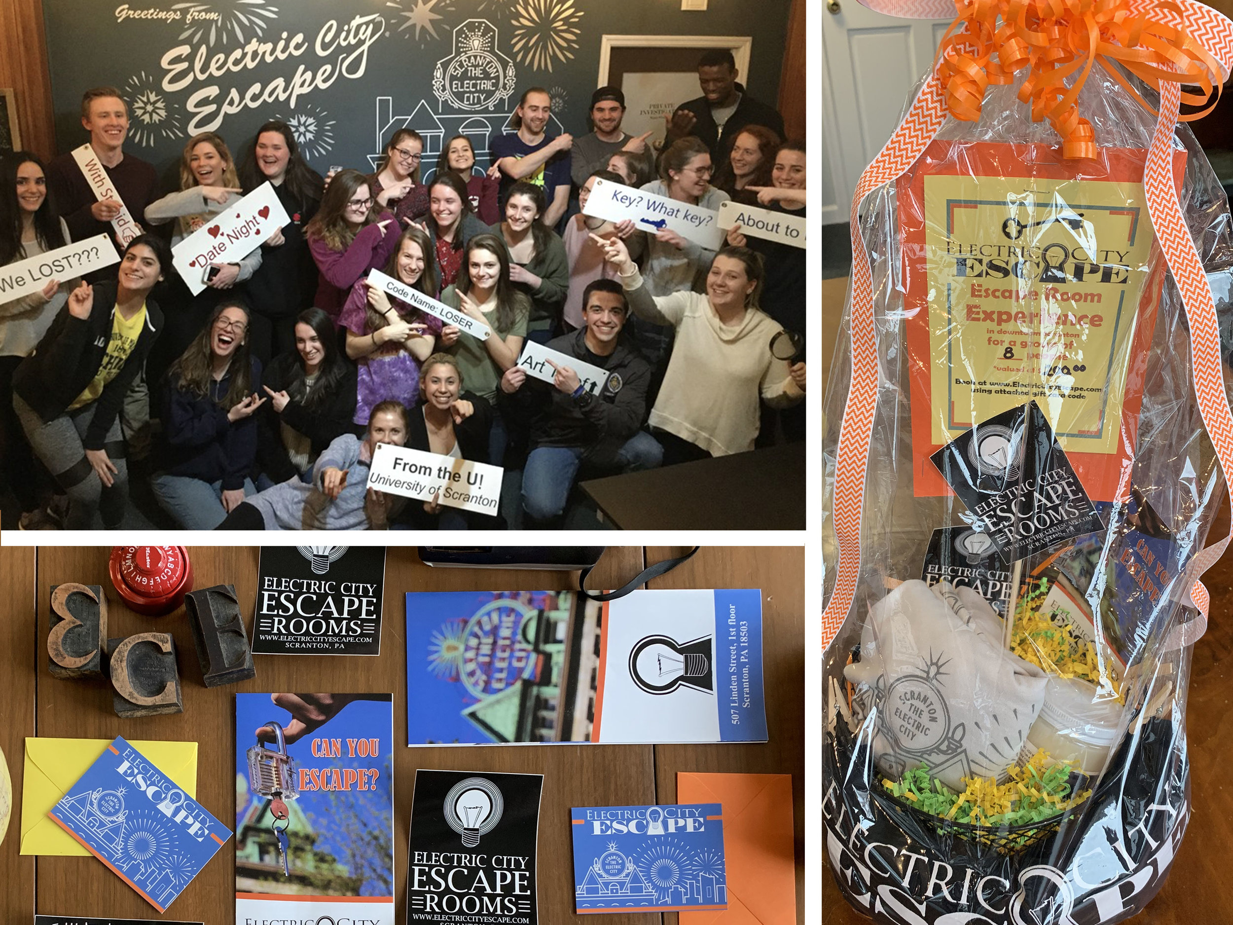 Gift Baskets, Gift Cards, and Fundraising Events! We love to give back to our community!