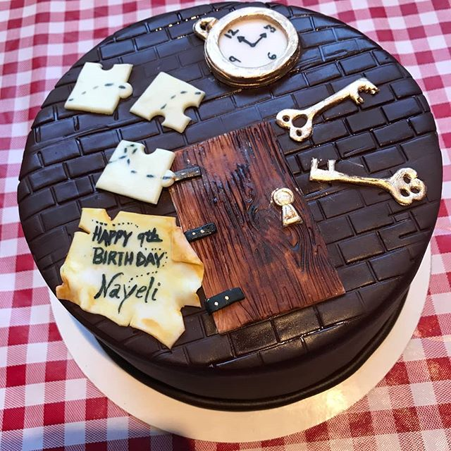"Happy birthday, Nayeli!  We hope your ""The Timekeeper's Trapped!"" cake tasted as good as it looks! (and bravo to Sugar Fixe in Oak Park for the awesome creation!)"