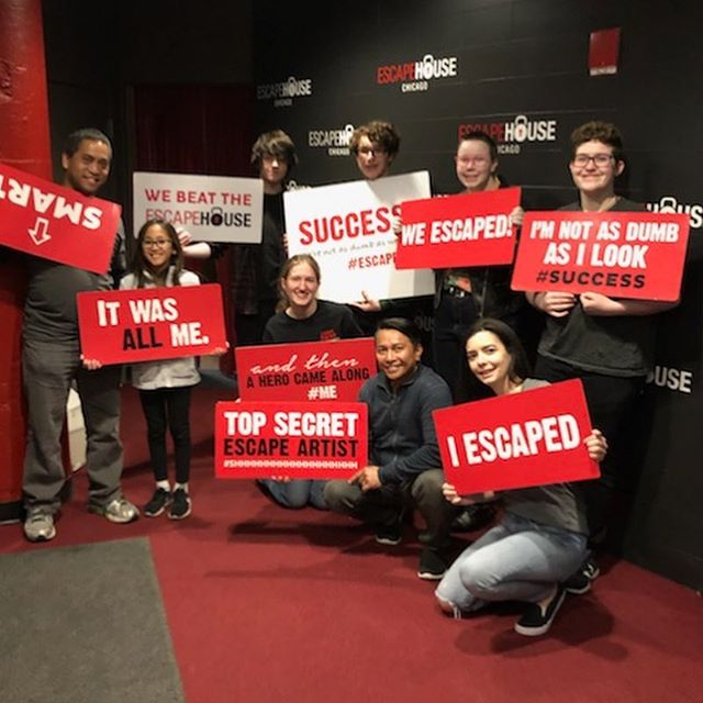 Sunday funday staff outing at @escapehousechicago today! Our awesome team not only escaped, we also BEAT THE ALL TIME RECORD!!