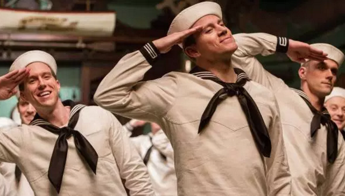An audience member squealed at the sight of Channing Tatum in a sailor's uniform.