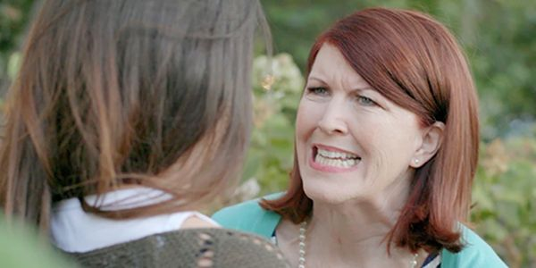 Kate Flannery as the nosey neighbor.