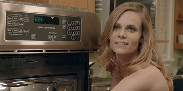 """Heather Turman as the """"trophy girlfriend"""", Chloe."""