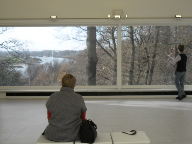 The artist, studying the view at Arnhem, Netherlands