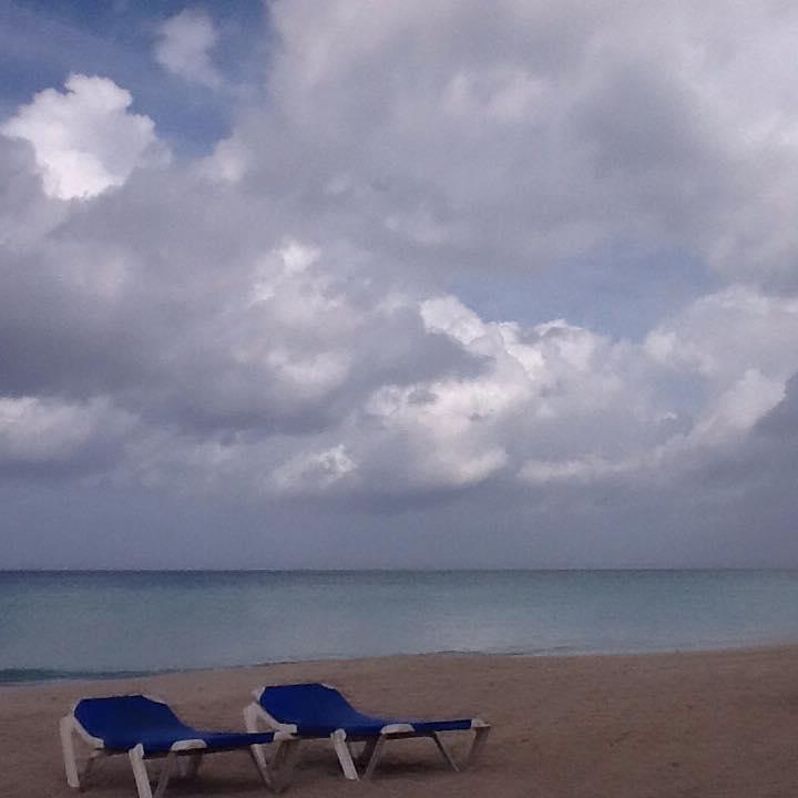 A little taste of warmth on a Cuban beach. Winter, 2016