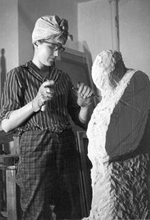 Sculpting, c.1965