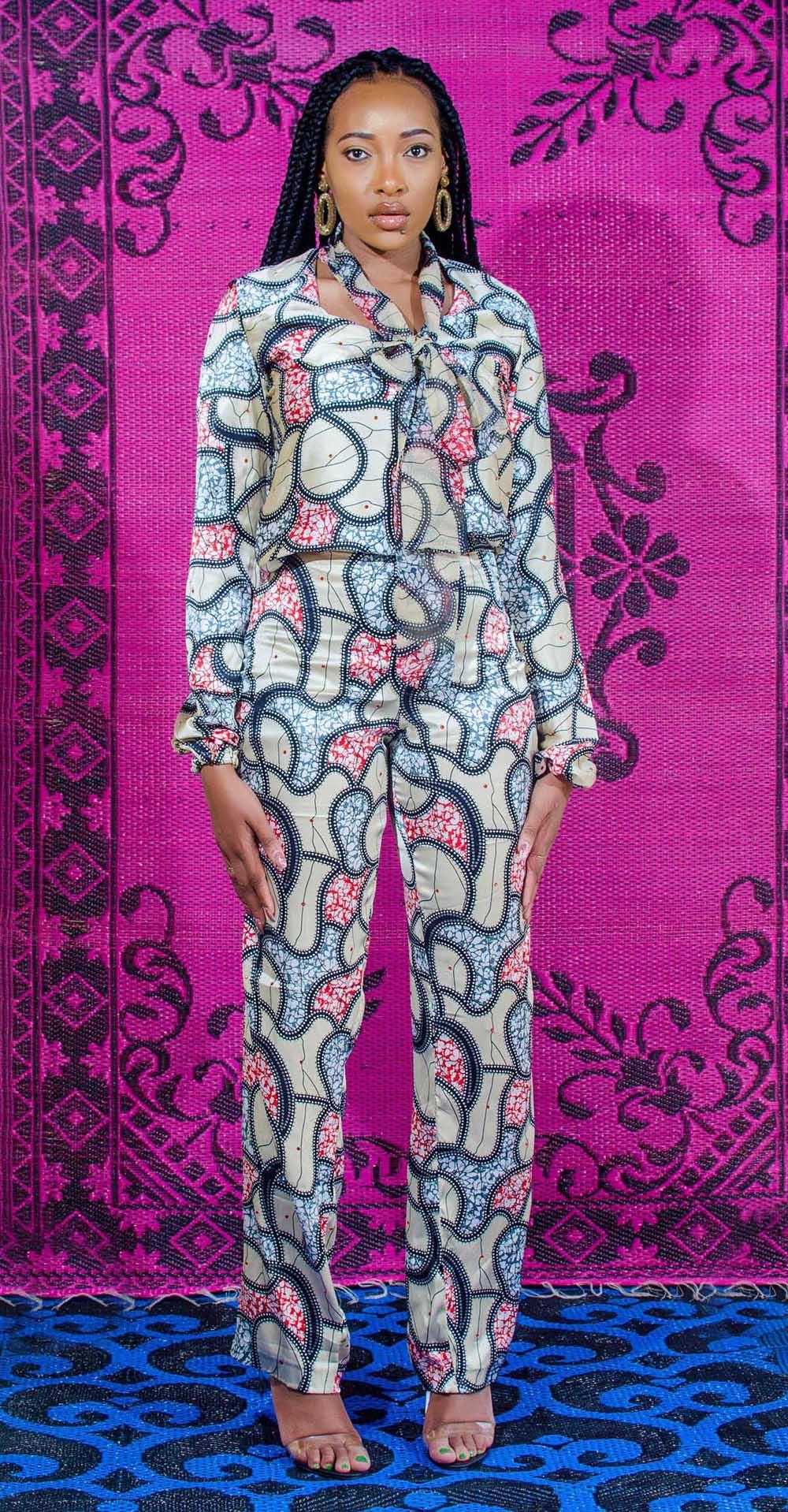 Ankara slik satin print pant and top9379.jpg