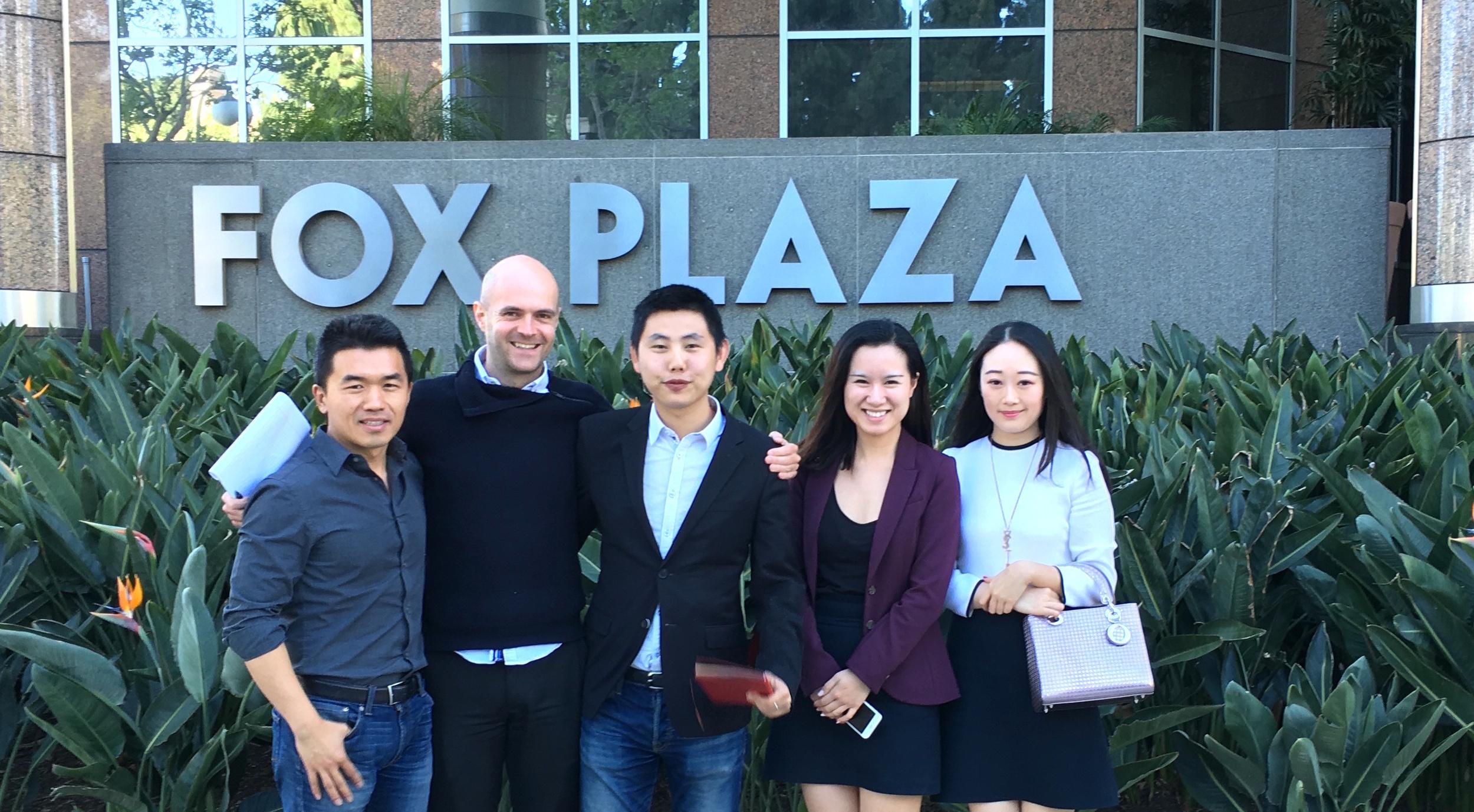 Vantage联合华清飞扬到访好莱坞顶级制片厂洽谈影视游戏IP合作