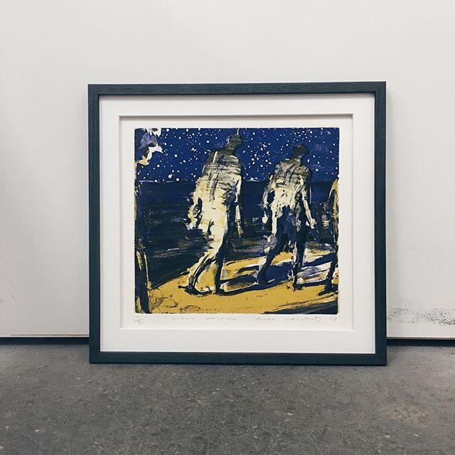 Night Walker 🌚 original print, floated mat, charcoal timber grain frame 👌 . . . #billabongframinggallery #customframing #pictureframing #centralcoastnsw #smallbusiness #localbusiness #interior #design #style #originalart