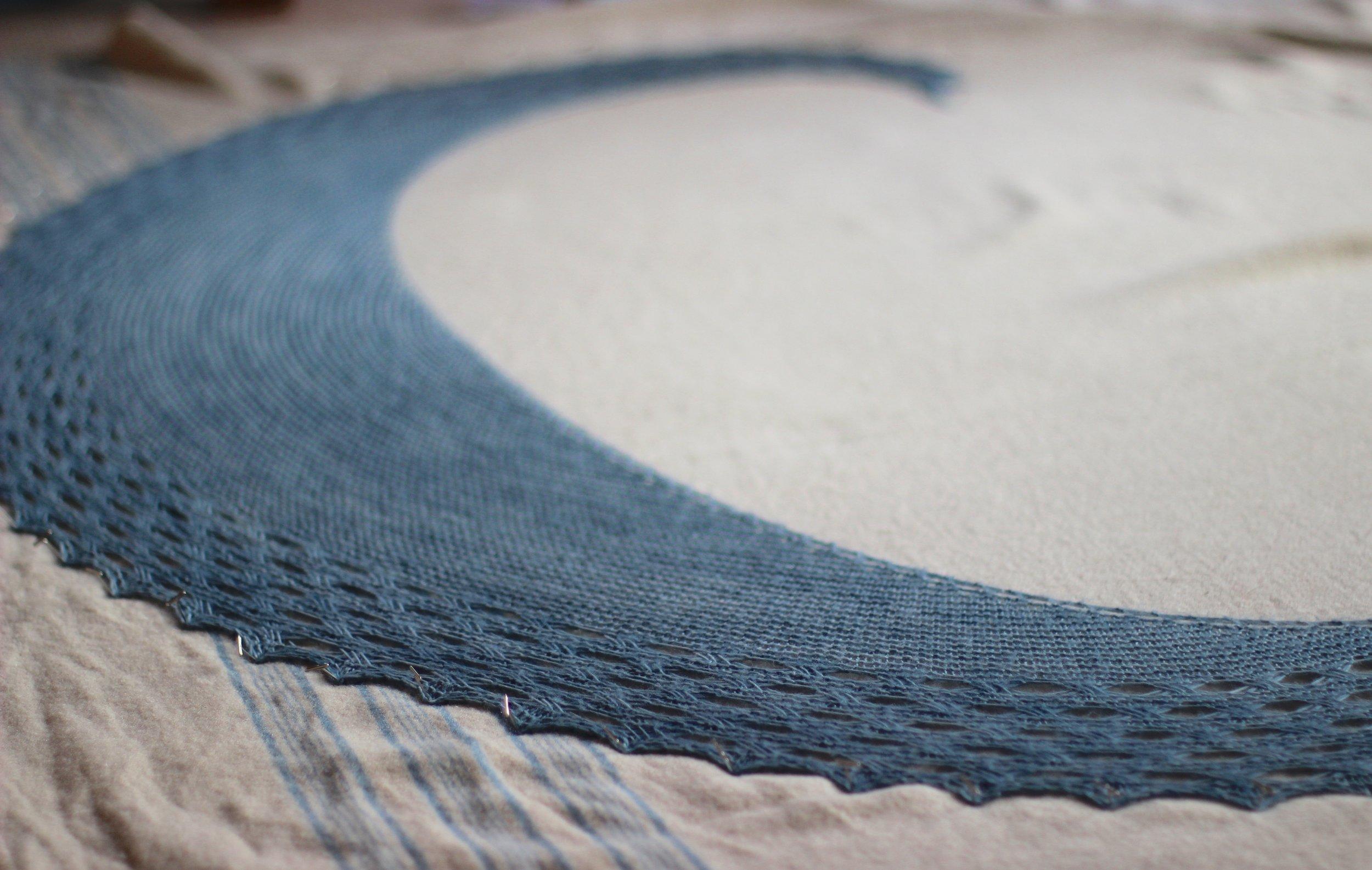 washing & blocking crescent shawls - PART ONE
