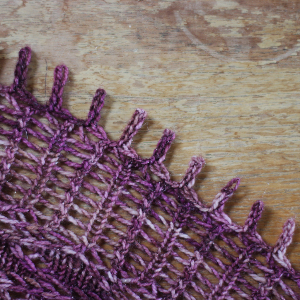 how to knit a picot bind-off - MINDFUL SHAWL