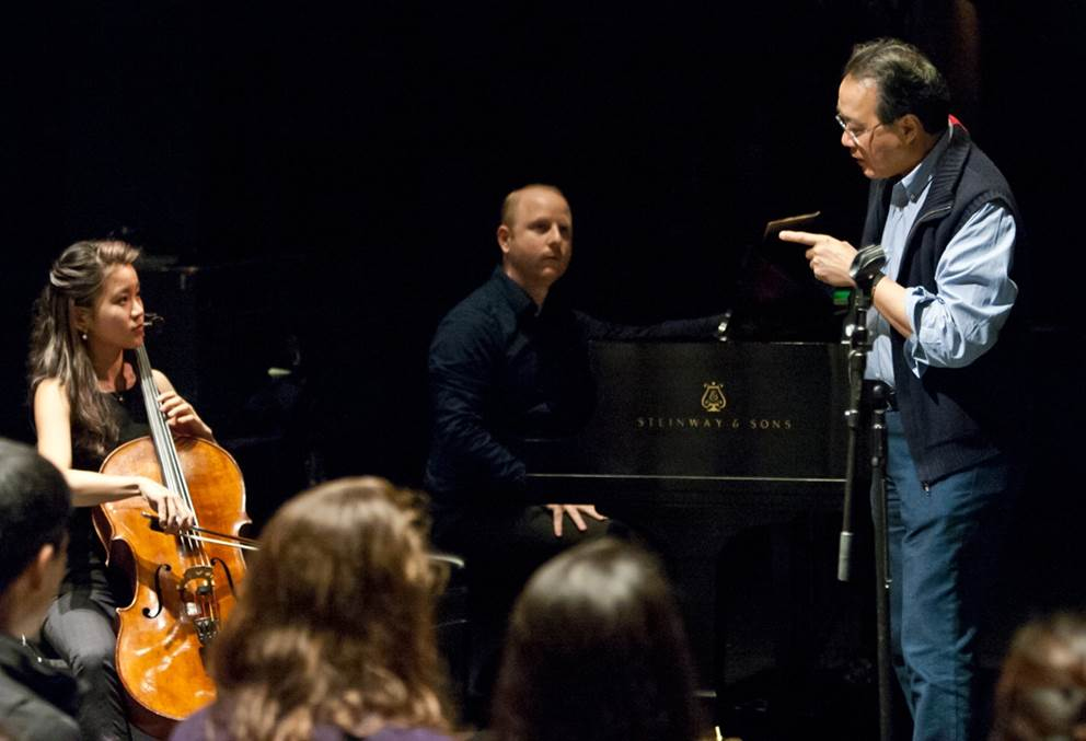 Masterclass with Yo-Yo Ma in Berkeley. Photo: David Bellard