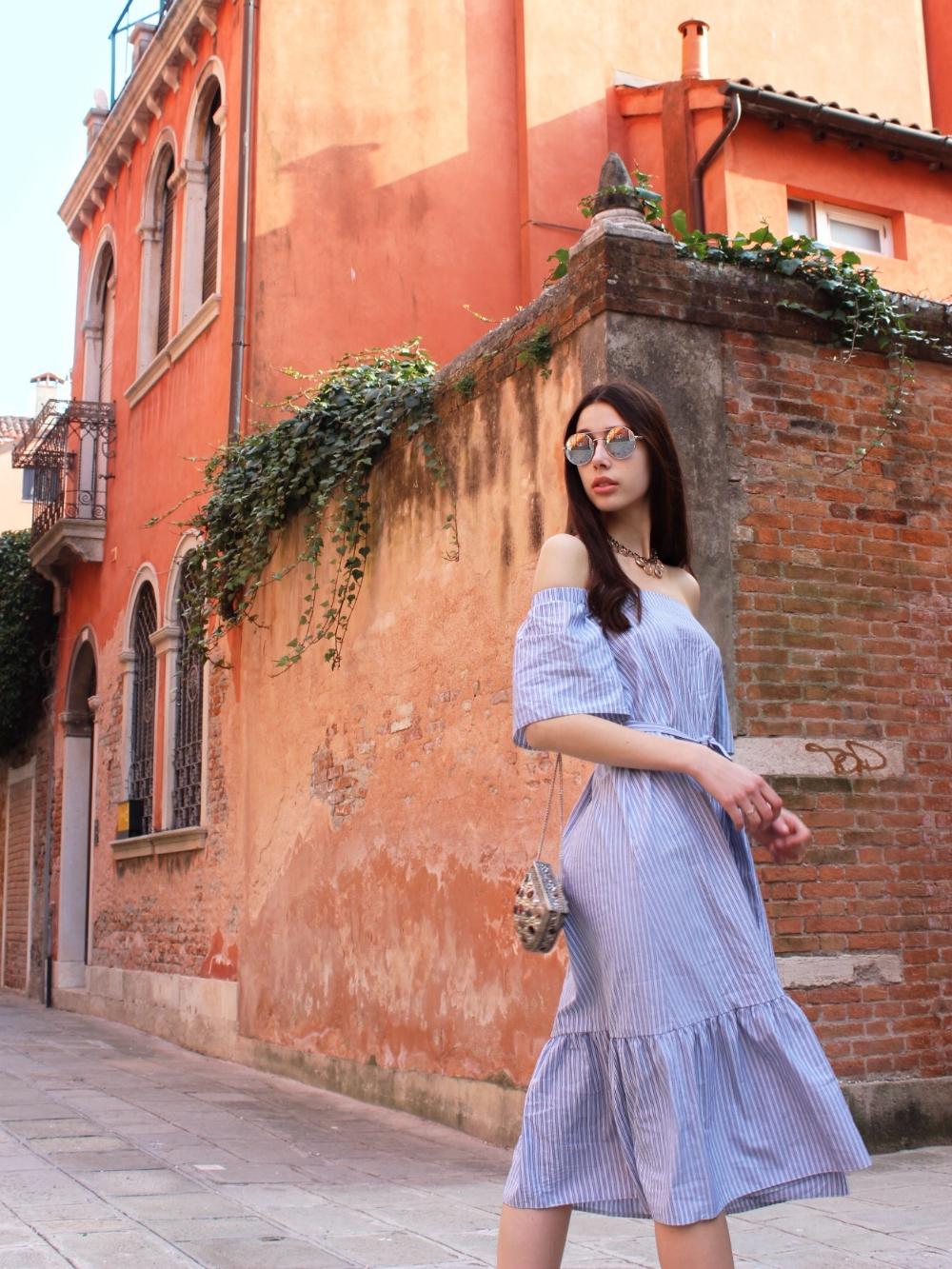 summer dress in venice italy