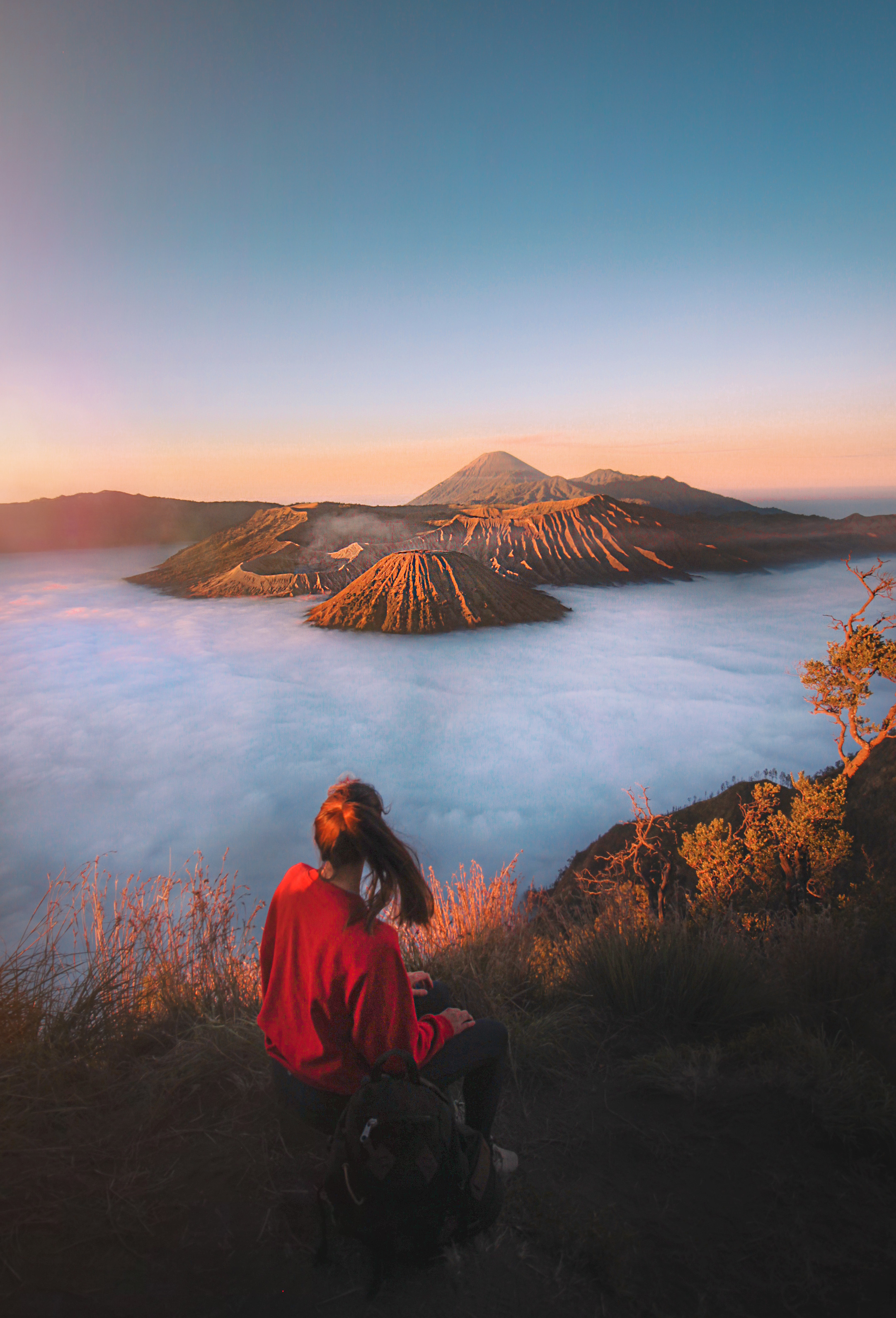 Sunrise at Mount Bromo, Java - Taken with a tripod and self-timer around 6.30 AM. - More about my   volcano hike on Java here