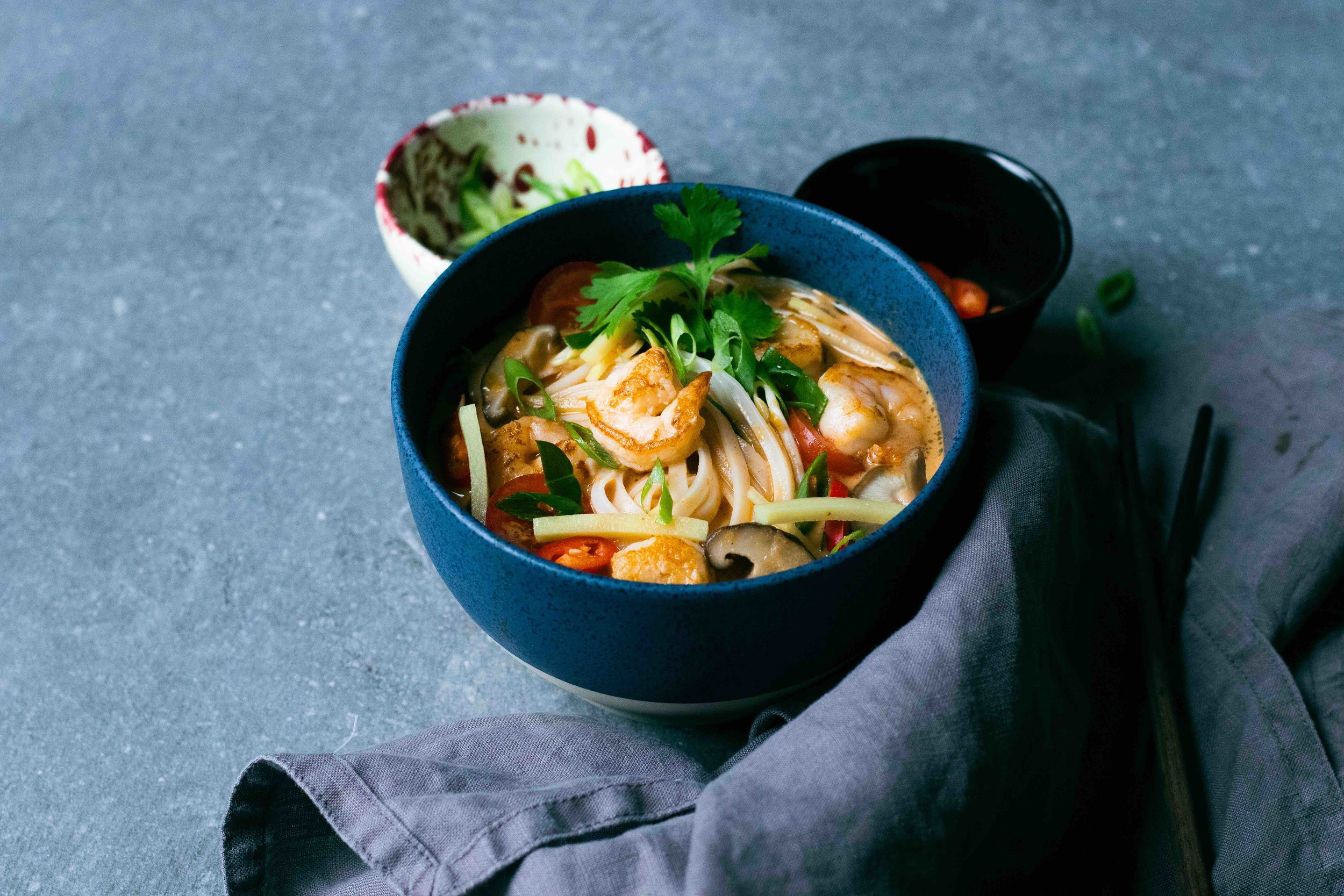 Thai tom yum kung - food styling & photography