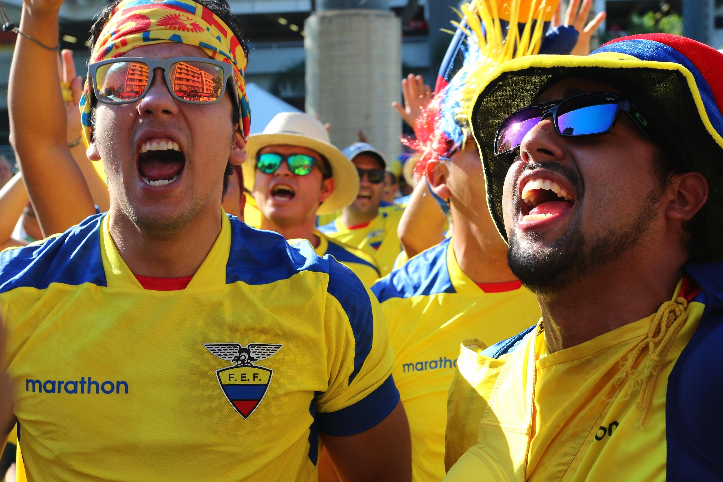 Fans from Ecuador -- Rio de Janeiro, Brazil