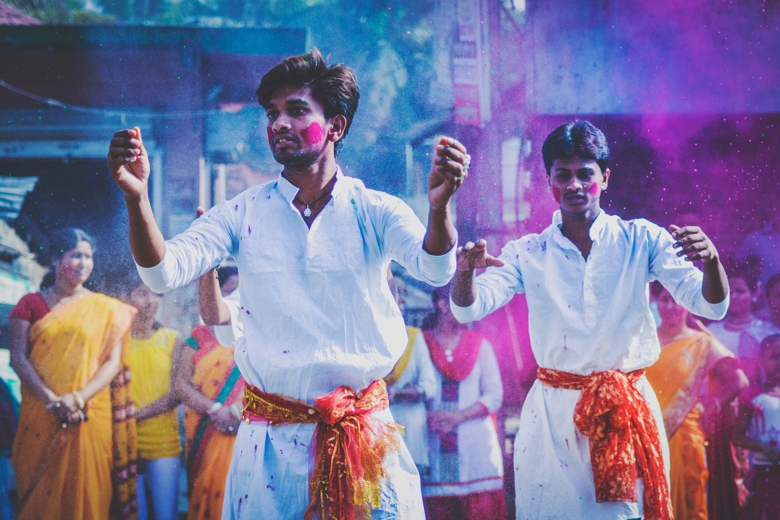 Holi, fête des couleurs, Inde